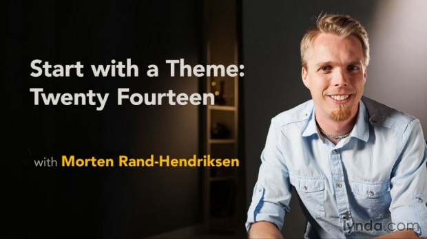 Learn how to use the Twenty Fourteen theme for WordPress in this lynda.com course by Morten Rand-Hendriksen